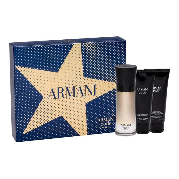 Armani Code Homme Absolu 60ml Edp + SG 75 ml + BL 75 ml Geschenkset