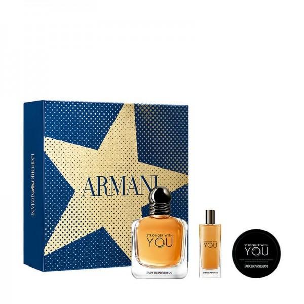 Armani Stronger With You 100ml Edt + Mini + Wax Geschenkset