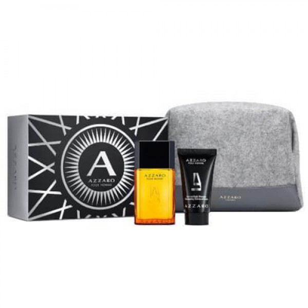Azzaro Pour Homme 50ml Edt + Showergel + Toiletbag Geschenkset