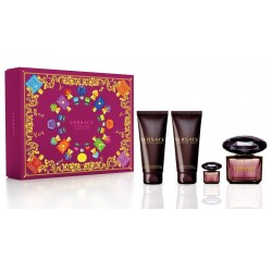 Versace Crystal Noir 90ml Edt + Mini + Bodylotion + Showergel Geschenkset