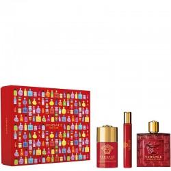 Versace Eros Flame 100ml Edp + Mini 10ml Edp + Deostick Geschenkset