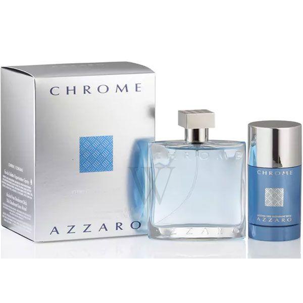 Azzaro Chrome 100 ml Edt + Deo Spray 150 ml  Geschenkset