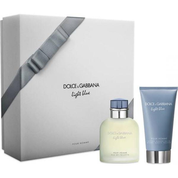 Dolce & Gabbana Light Blue Pour Homme 75 ml Edt + Aftershave Balm  Geschenkset