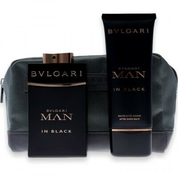 Bvlgari Man in Black 100 ml Edp + 100 ml ASB + Bag Geschenkset