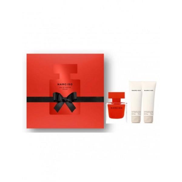 Narciso Rodriguez Rouge 50ml Edp + 75ml BL + SG 75 ml Geschenkset