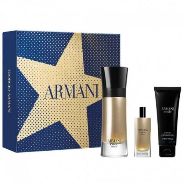 Armani Code Absolu 110ml Edp + 15ml Edp + Showergel Geschenkset