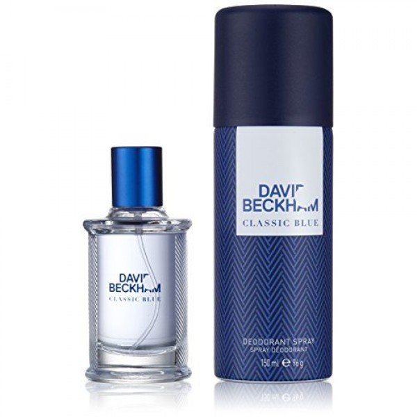 David Beckham Classic Blue 40ml Edt + Deo Spray 150 ML Geschenkset