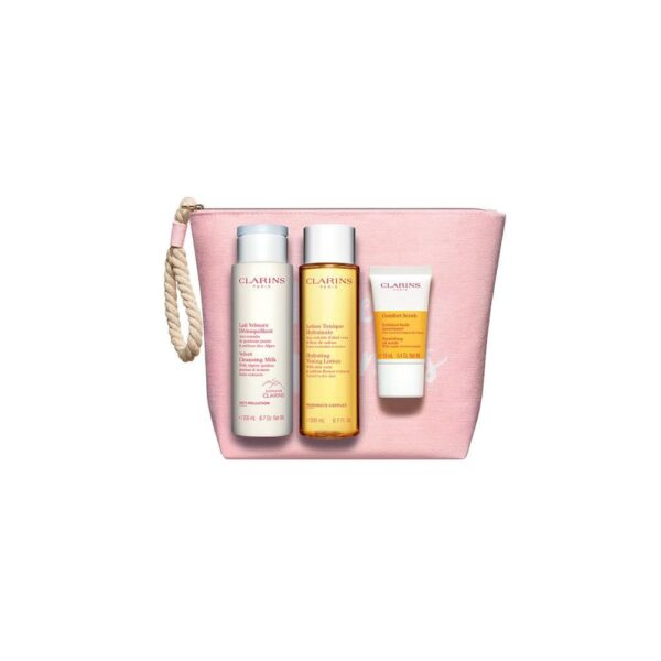 Cleansing Pack 3 Stuks + Pouch - Clarins set
