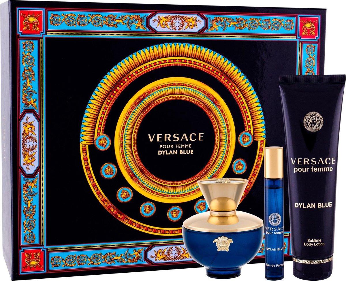 Dylan Blue Pour Femme 100ml Edp + Mini 10ml + BL - Versace set